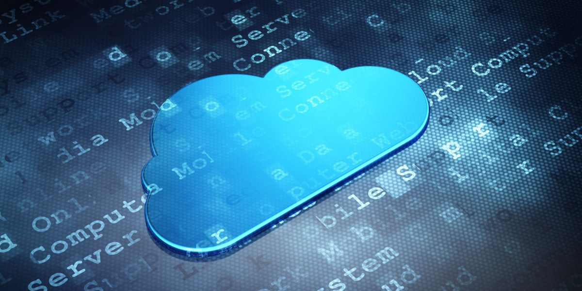 21345058 - cloud technology concept: blue cloud on digital background, 3d render